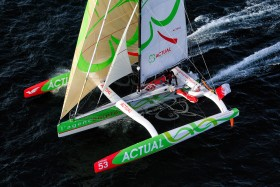 COURSE;LARGE;MULTI 50;MULTICOQUE;MULTIHULL;OFFSHORE;RACE;REGATE;REGATTA;SAIL;VOILE;LE BLEVEC