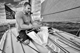 BATEAU;BOAT;SAIL;SAILING;VOILE;COURSE;RACE;A BORD;ON BOARD;SKIPPER;LARGE;OFFSHORE;CLASS 40