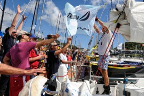 ACCUEIL;COURSE;DUO;HAPPINESS;JOIE;OFFSHORE;PUBLIC;RACE;REGATE;REGATTA;SAILING;SINGLE HANDED;SOLO;TRANSAT;TRANSATLANTIQUE;VOILE;WELCOME