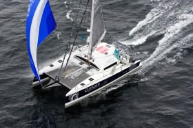 AERIAL;AERIEN;CATAMARAN;COURSE AU LARGE;MULTIHULL;OFFSHORE;RHUM;SAIL;SINGLE HANDED;SOLITAIRE;TS42;VOILE
