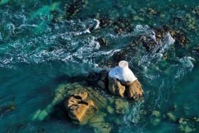 MER;SEA;EAU;WATER;COURANT;STREAM;ROCHER;ROCK;BORD DE MER;SEASHORE;PAYSAGE;SEASCAPE;AERIEN;AERIAL