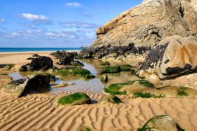 SABLE;SAND;PLAGE;BEACH;MAREE;TIDE;ROCHER;ROCK;ESTRAN;FORESHORE;MER;SEA