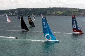 COURSE AU LARGE;GLOBE SERIES;IMOCA;OFFSHORE;RACE;SAILING;VOILE;START;DEPART