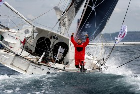 COURSE AU LARGE;GLOBE SERIES;IMOCA;OFFSHORE;RACE;SAILING;VOILE;ARRIVEE;FINISH